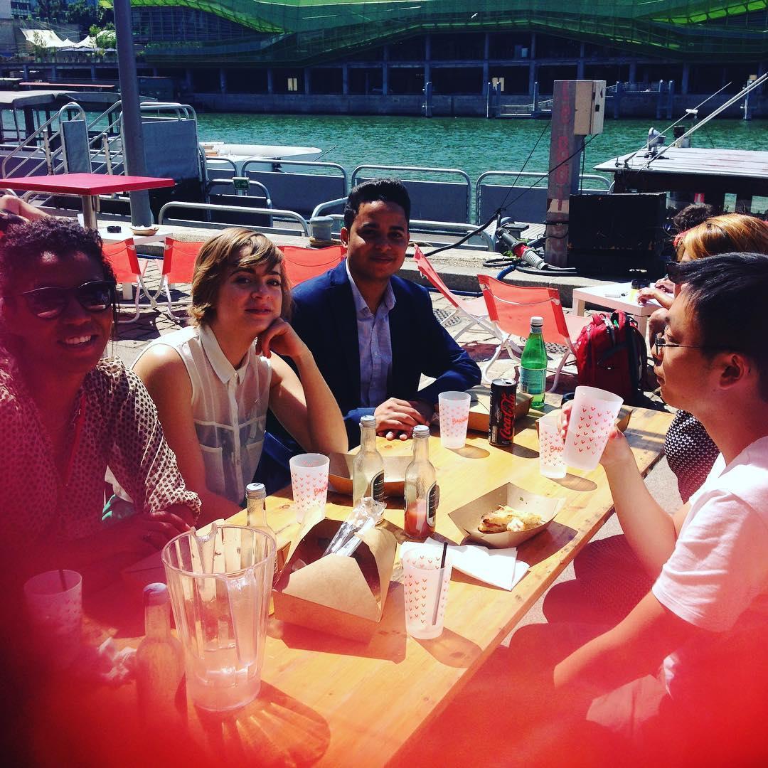 Repas italien au top au bar #Barapapa #foccacia #vacances2016 #parisplage #italie #labellevie #pote
