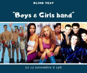 soirée blind test boys & girls band