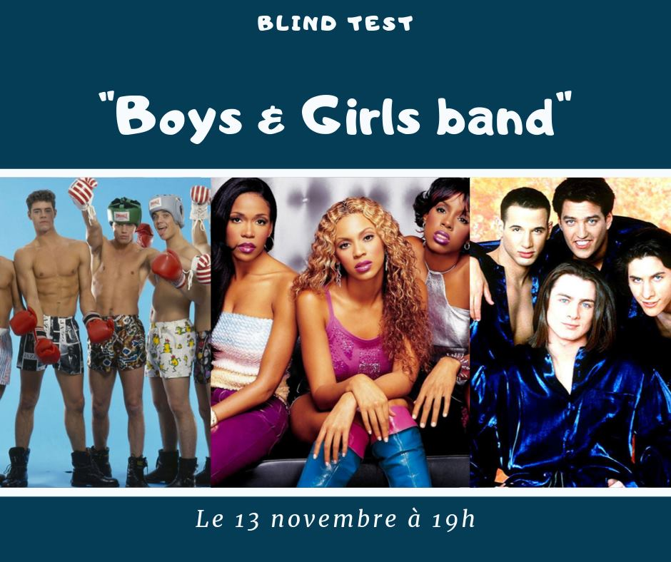 soirée blind test boys & girls band